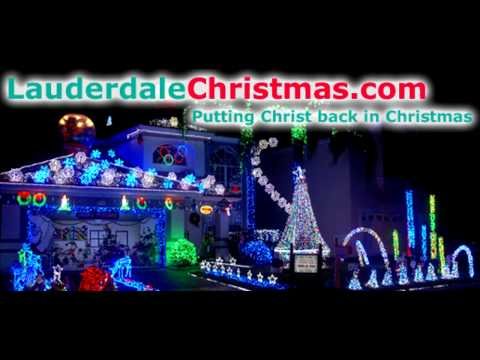 Our 64000 LED 2009 Christmas Lights Display Dances To Carol Of The Bells by David Foster