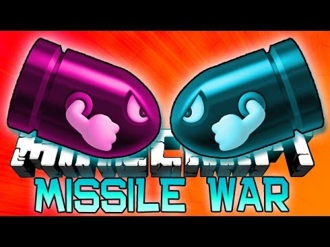 Minecraft: MISSILE WAR! 1.8 Mini-Game w/Bajan Canadian and Friends!