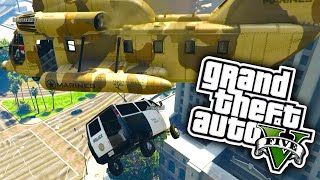 GTA 5 Funny Moments - Helicopter Rescue, Vikk's Secret Game & Mitch The Surfer! (GTA V PC Online)