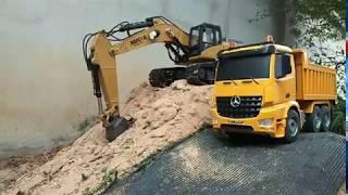 Excavator |Dump truck | kids toys | Toys cartoon |แบ็คโฮตักดิน|รถบังคับของเล่น
