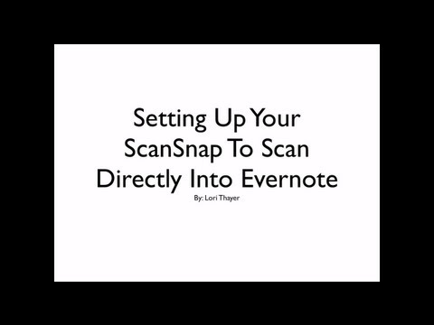 Setting Up ScanSnap to Scan Directly Into Evernote