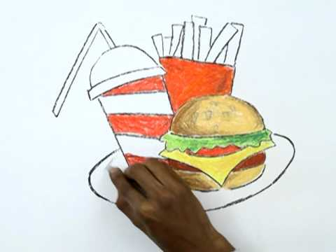 Unhealthy Foods Drawing How to Draw a Junk Food