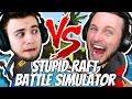 STUPID RAFT BATTLE SIMULATOR | One vs One Challenge!!