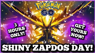 🚨 LIVE 🚨  SHINY ZAPDOS DAY!!! ⚡ FOR 3 HOURS ONLY⚡5 FREE PASSES! FRIENDS & MORE! | POKEMON GO NYC