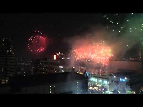 Happy New Year 2014 at Central World Bangkok, Thailand