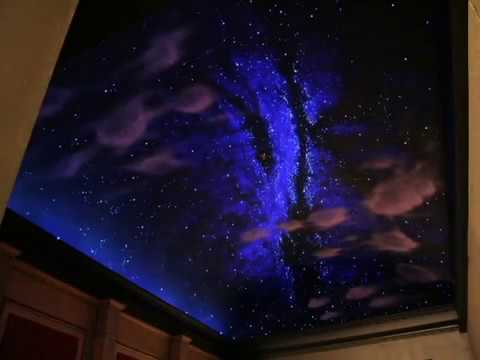 Home Theater Night Sky Mural Lee Bivens Worlds Finest
