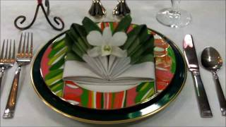 Napkin Folding: Orchid In Bloom