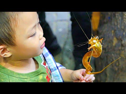 China Sugar Blowing: Giraffe and Dragon