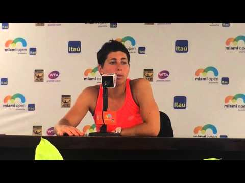Carla Suarez Navarro talks about her loss to Serena Williams in Miami Open final