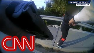 Cop confronts kids with BB gun