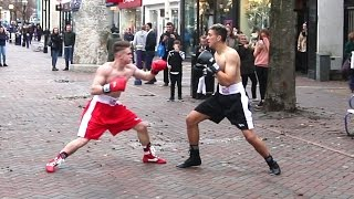 BRUTAL BOXING IN PUBLIC
