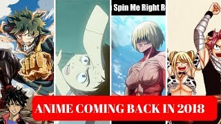 Anime sequels in 2018 that you need to watch