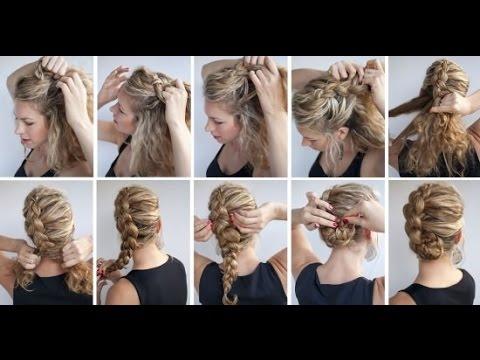 Прически на средней длины волосы косички