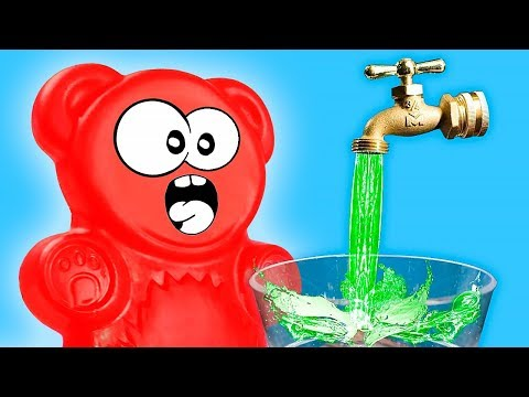 WATER TRICKS AND MAGIC FOR JELLY GUMMY BEAR