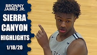 Bronny James, B.J. Boston and Sierra Canyon put on dunkfest vs. Dominican | Prep Highlights
