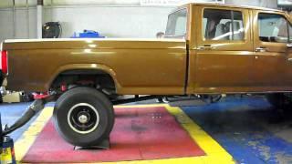 Ford Cummins on the dyno