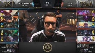SKT (Peanut Lee Sin) VS TSM (Svenskeren Khazix) Highlights - 2017 MSI Group Stage D2