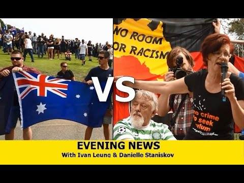 Evening News - [Reclaim Australia vs No Racism]