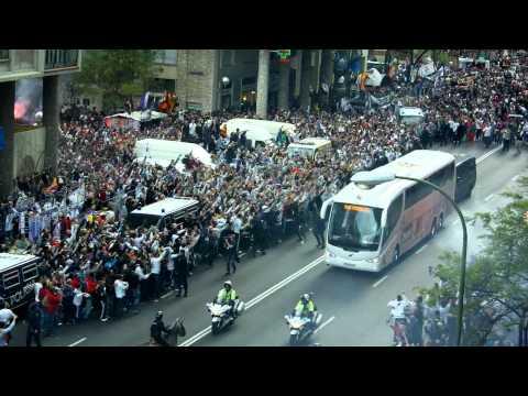 Real Madrid-Bayern Munich: llegada al Bernabéu / Real Madrid arrive at the Bernabeu thumbnail
