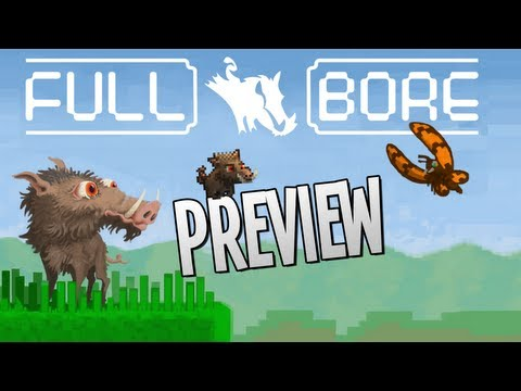 Full Bore Let's Play — Preview — Cutest boar EVER! — Indie Block Puzzle Game