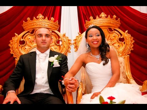Interracial Wedding, Indian & Black Couple - Blasian. Love is colourblind