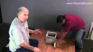 Installing a Stealth floor safe in a wood floor or RV.