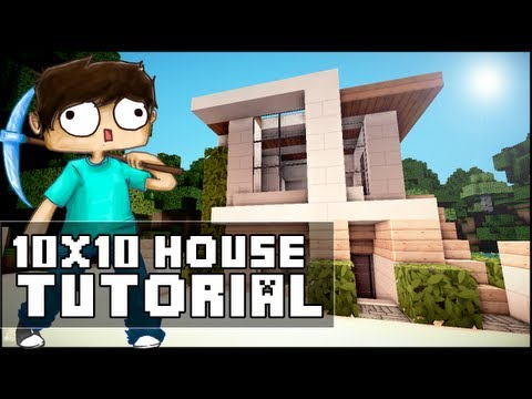 Minecraft House Tutorial: 10x10 Modern House
