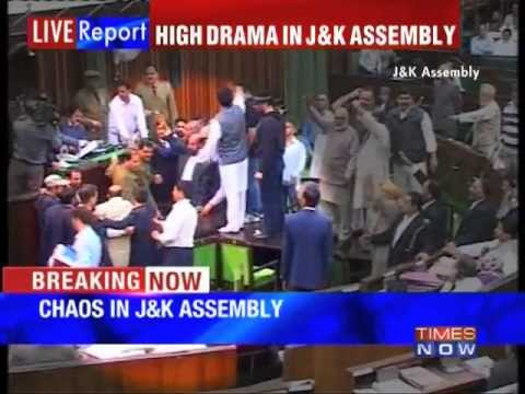 Uproar in Jammu and Kashmir Assembly