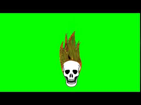 Animated Flaming Skull - Green Screen thumbnail