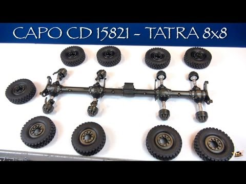 RC ADVENTURES - CAPO CD15821 8x8 All METAL Extreme Off Road Military Truck - BV2 - TRANSFER CASE