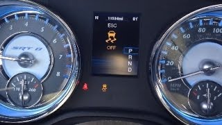 DISABLING ELECTRONIC STABILITY CONTROL on Chrysler 300, Dodge Charger/ Challenger SRT