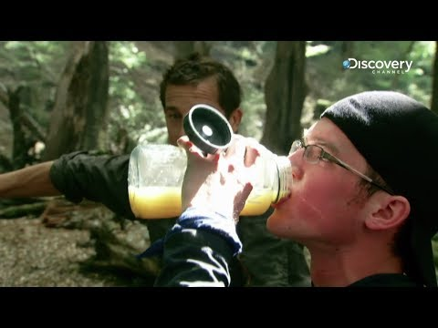 Get Out Alive With Bear Grylls - Pee, Drink And Win video