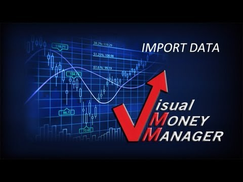 Visual Money Manager Import Data 1st
