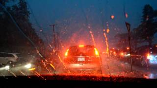 Stuck In A Traffic Jam During A Severe Thunderstorm! August 2, 2015