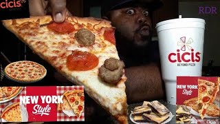 ☆Cicis  NEW YORK Style Pizza's  Review☆!!!!