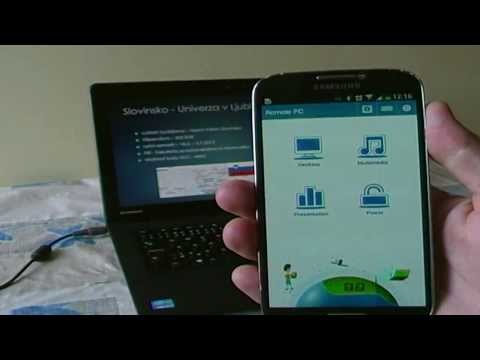 The promotional video of Android Remote PC
