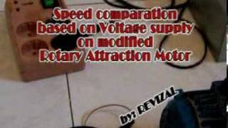 How to increase Rotary Attraction Motor Speed