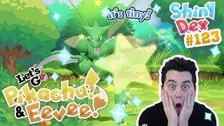 I FINALLY GOT IT! OMG! SHINY SCYTHER REACTION in POKEMON LET'S GO PIKACHU and EEVEE!