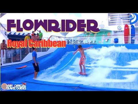 Royal Caribbean Liberty of the Seas FlowRider Surfing