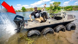I Put a BOAT MOTOR on My TANK!!! (Bad Idea)