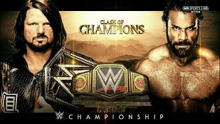 WWE Clash Of Champions 2017 Official and Full Match Card