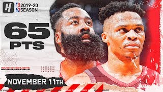 James Harden & Russell Westbook BEST Highlights vs Pelicans (2019.11.11) - 65 Pts Combined!