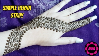DIY Henna Strip - Very Simple Party Style Mehendi - Easy Henna Tattoo Design