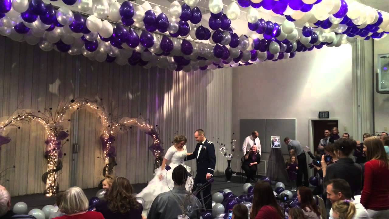 Misti And Aaron S Wedding Reception 2014 Balloon Drop