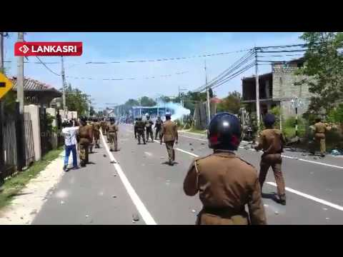 Vidhya Murder - Violent Protests In Jaffna