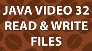 Java Video Tutorial 32