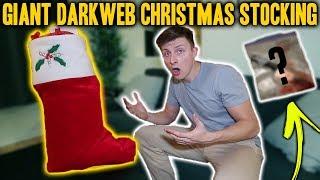 GIANT DARK WEB CHRISTMAS MYSTERY STOCKING OPENING!!! *VERY CREEPY*