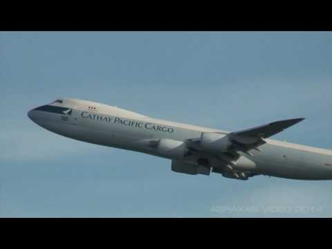 Cathay Pacific Cargo 747-8F [B-LJC] - Departure from Hong Kong - 13 September 2014