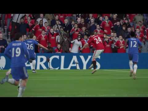 Fifa 16 career mode match day 18 Manchester united vs chelsea lewadowski hat-trick
