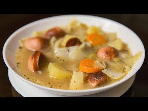 Суп с капустой и сосисками | Cabbage and sausage soup